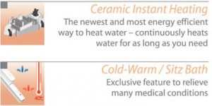 ceramic instant heating 86 height