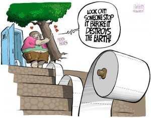 bidet reducing toilet paper use